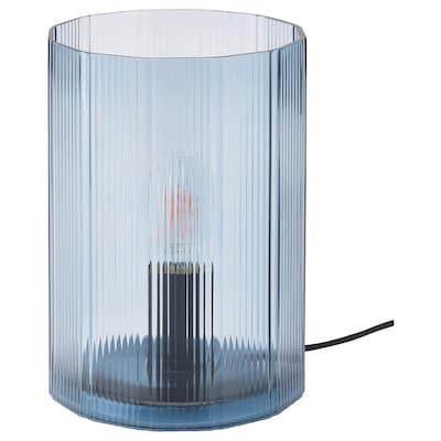 MIKROKLIN Bordslampa, glas blå, 22 cm