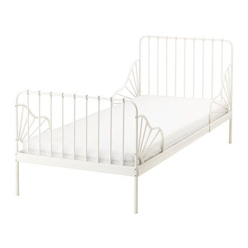 Minnen Utdragbar Sängstomme Med Ribbotten Ikea