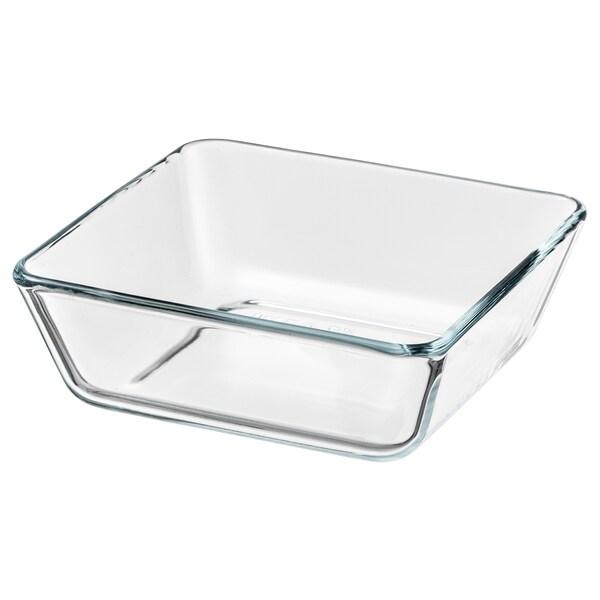 MIXTUR ugns-/serveringsform klarglas 15 cm 15 cm 5 cm