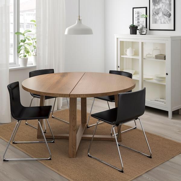 MÖRBYLÅNGA Bord, ekfaner brunlaserad, 145 cm