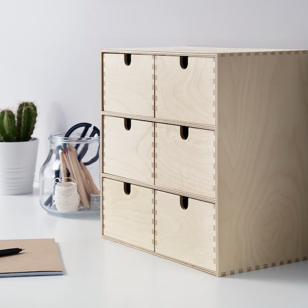 MOPPE Minibyrå, björkplywood, 31x18x32 cm