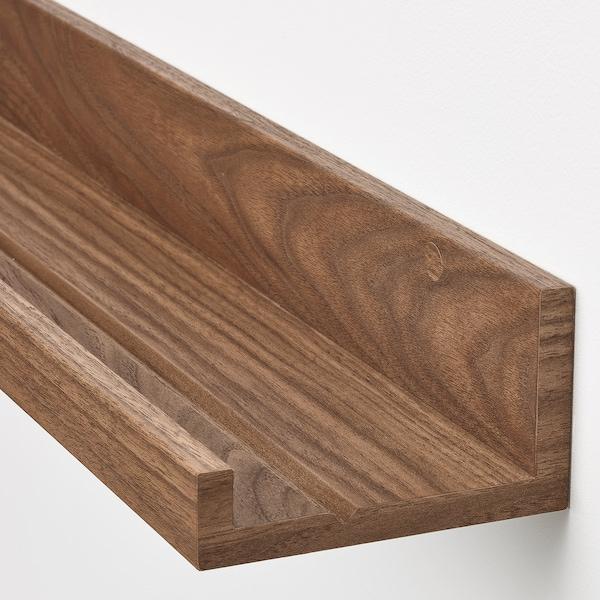 MOSSLANDA Tavelhylla, valnötsmönstrad, 55 cm