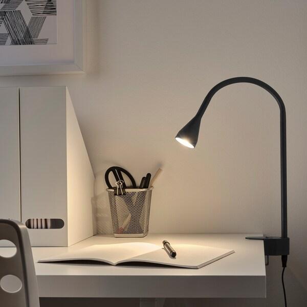 NÄVLINGE LED vägg-/klämspot, svart
