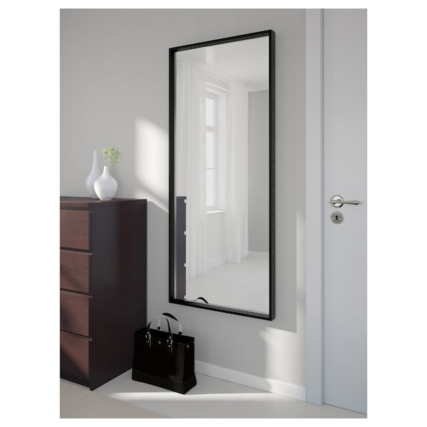 NISSEDAL Spegel, svart, 65x150 cm