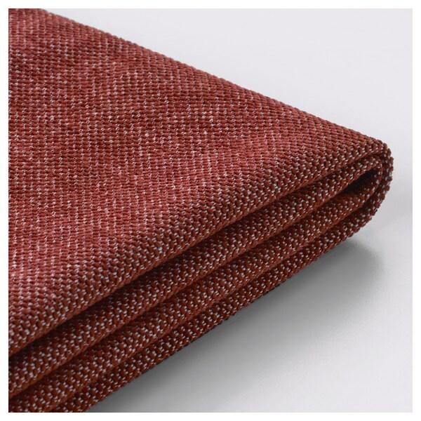 NOCKEBY Klädsel till 3-sitssoffa, Tallmyra rostbrun/med schäslong, höger