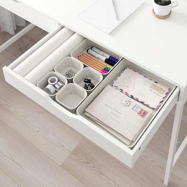 NOJIG Låda, plast/beige, 25x35x5 cm
