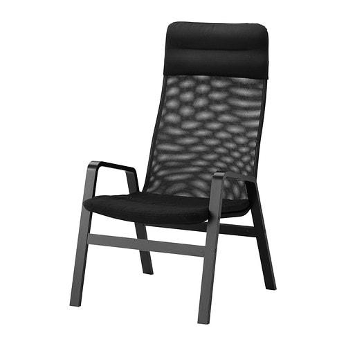NOLBYN Fåtölj med hög rygg svart svart IKEA
