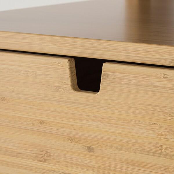 NORDKISA Avlastningsbord, bambu, 40x40 cm
