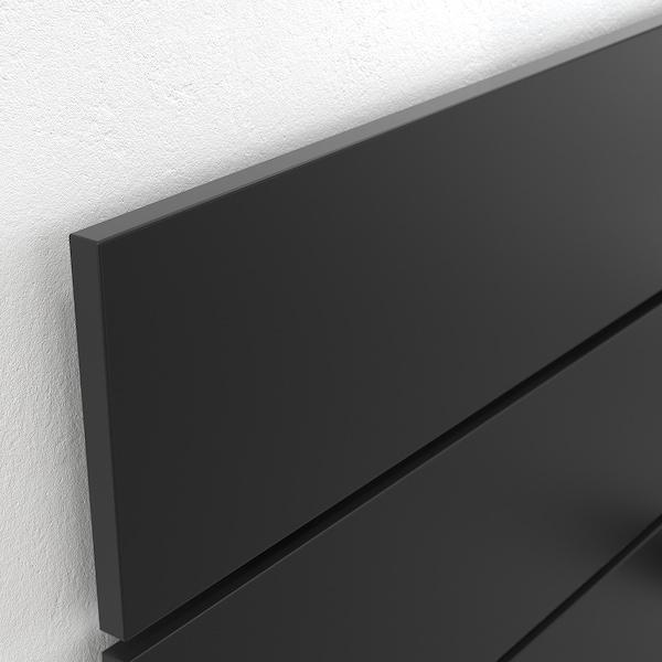 NORDLI Sängstomme m förvaring o huvudgavel, antracit, 120x200 cm