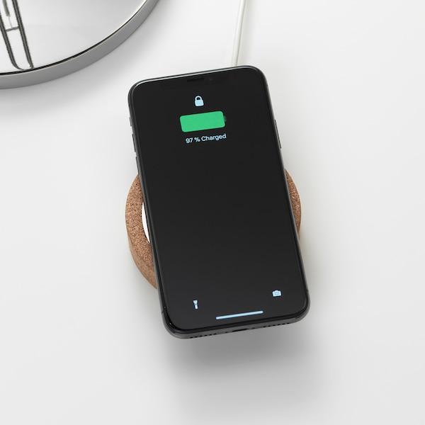 Trådlös laddare för iPhone och Samsung, Vit Köp här