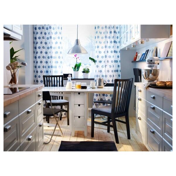 NORRNÄS Stol, svart, Isunda grå IKEA