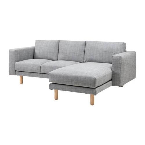 Norsborg 2 Sits Soffa Med Schäslong Isunda Grå, Björk Ikea