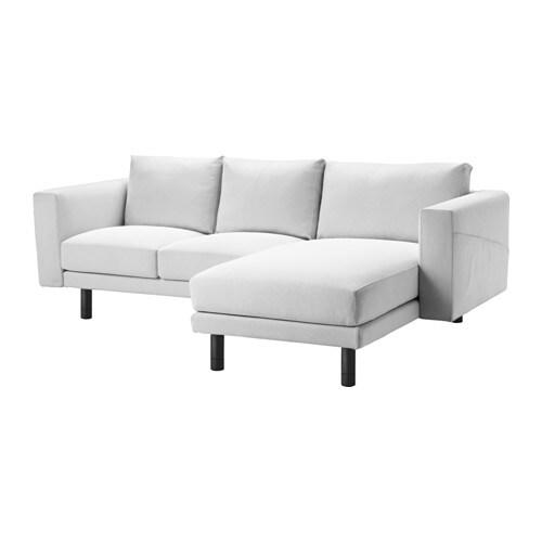 NORSBORG 2 sits soffa med schäslong Finnsta vit, grå IKEA