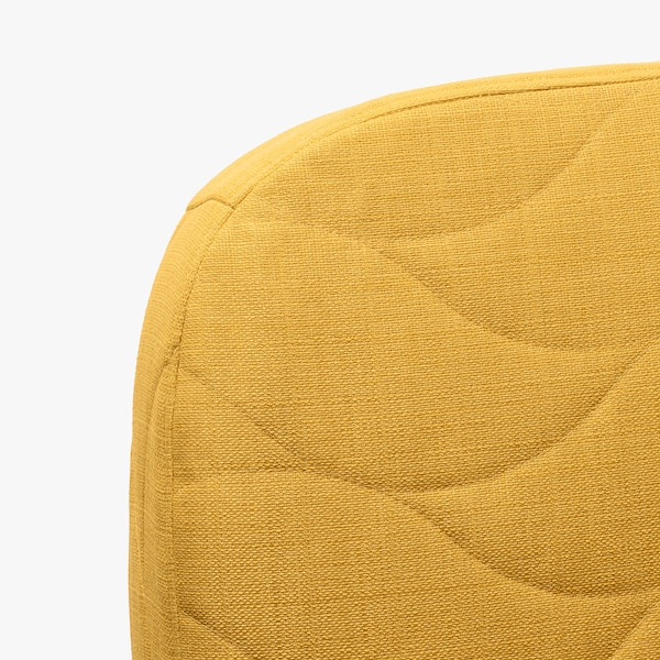 NYHAMN 3-sits bäddsoffa, med resårmadrass/Skiftebo gul
