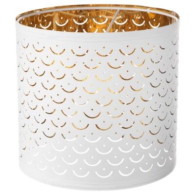 NYMÖ Lampskärm, vit/mässingsfärgad, 24 cm