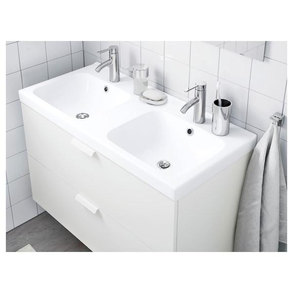 ODENSVIK Tvättställ 2 hoar, 103x49x6 cm