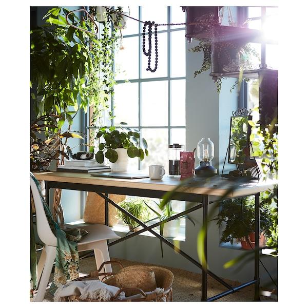 ODGER Stol, vit, beige IKEA