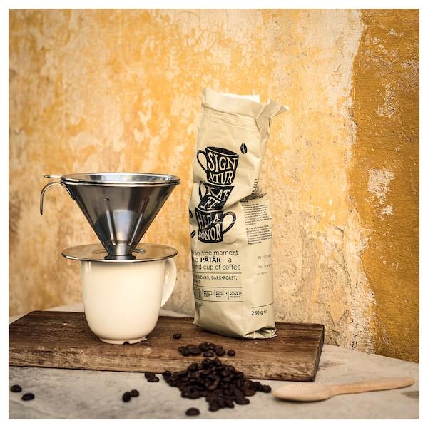 ÖVERST metallfilter för kaffe, 3 delar rostfritt stål