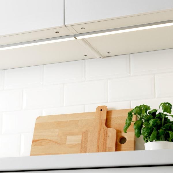 OMLOPP LED bänkbelysning, aluminiumfärg, 60 cm