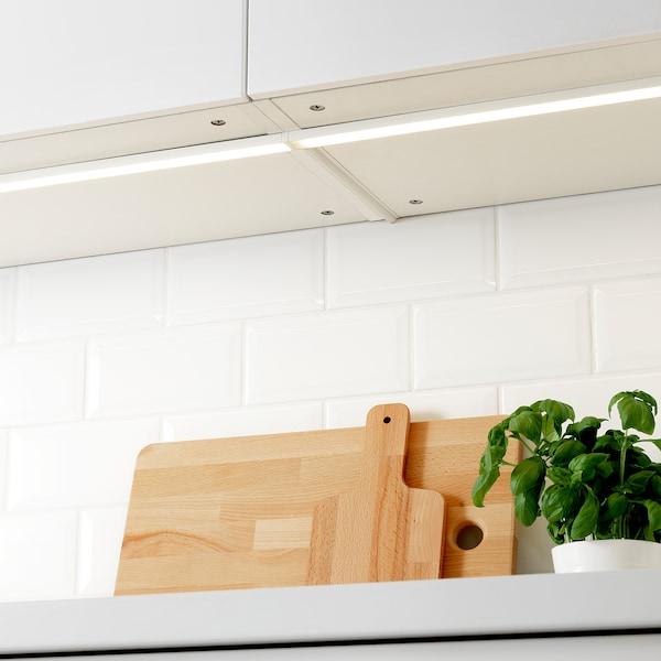 OMLOPP LED bänkbelysning, vit, 80 cm