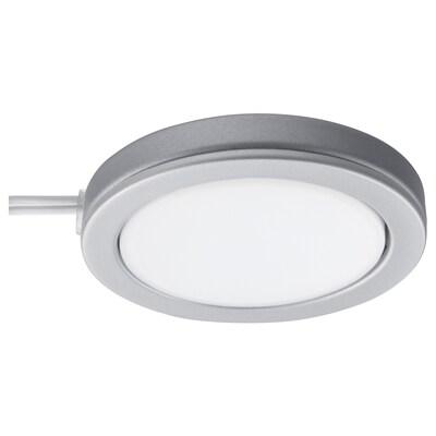 OMLOPP LED spot, aluminiumfärg, 6.8 cm