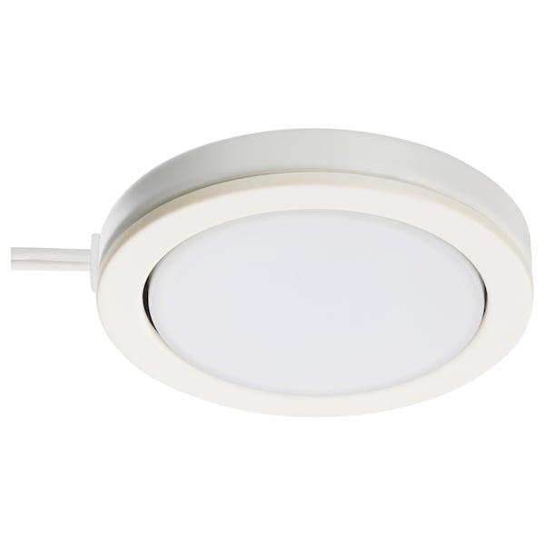 OMLOPP LED spot, vit, 6.8 cm