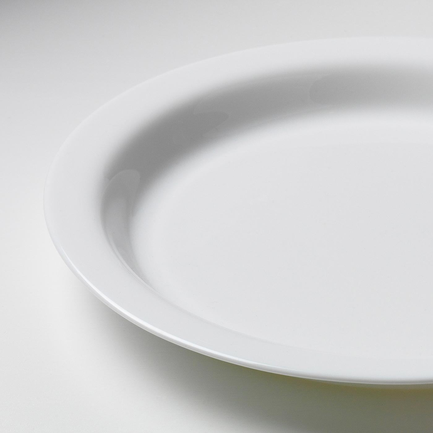 OMTÄNKSAM Tallrik med antiglid, vit, 26 cm