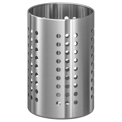 ORDNING Ställ för köksredskap, rostfritt stål, 18 cm