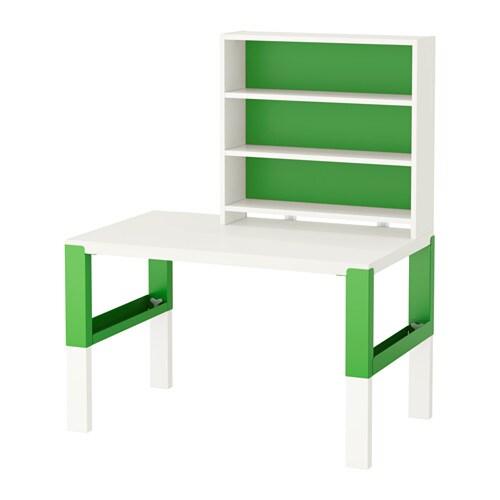Påhl Skrivbord Med Hylla Vit Grön Ikea
