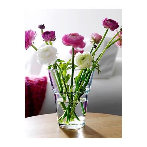 PÅLITLIG Vas, klarglas Diameter: 14 cm Höjd: 18 cm