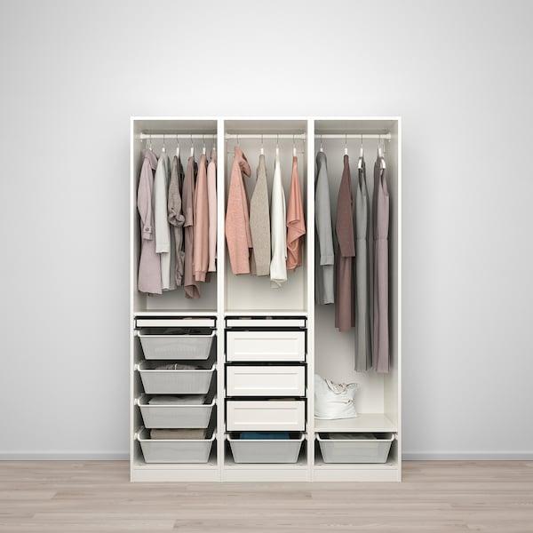 PAX TYSSEDAL Garderobskombination vit, vit IKEA