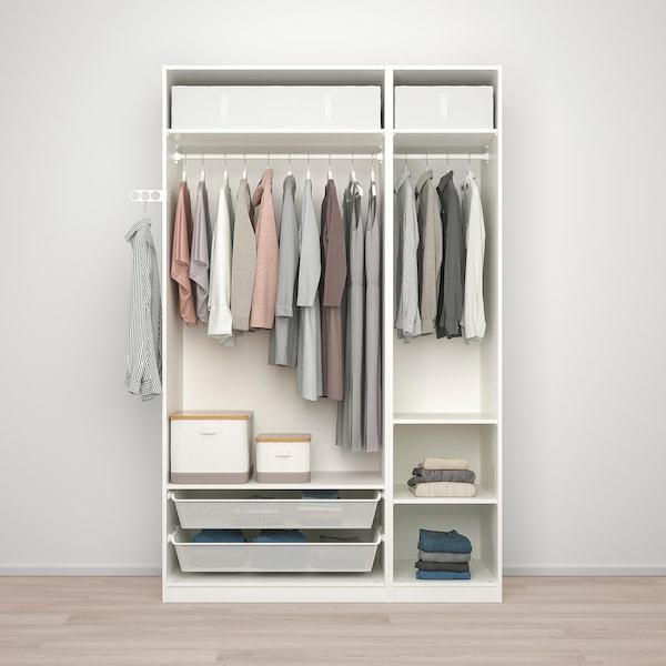 PAX / VIKEDAL Garderobskombination, vit/spegelglas, 150x60x236 cm