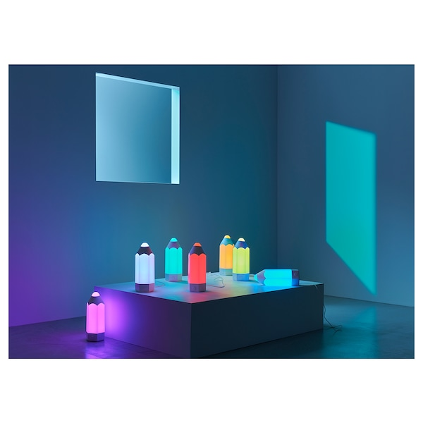 PELARBOJ LED bordslampa, flerfärgad IKEA