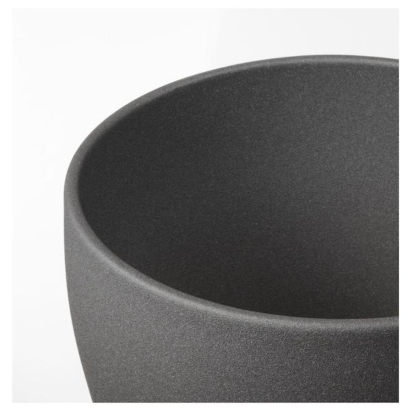 PERSILLADE Kruka, mörkgrå, 19 cm