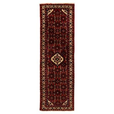 PERSISK HAMADAN Matta, kort lugg, handgjord blandade mönster, 80x200 cm