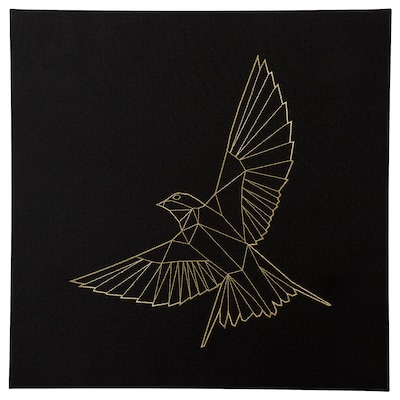 PJÄTTERYD Tavla, Gyllene fågel, 56x56 cm