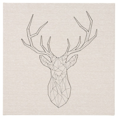 PJÄTTERYD Tavla, Svart rådjur, 56x56 cm