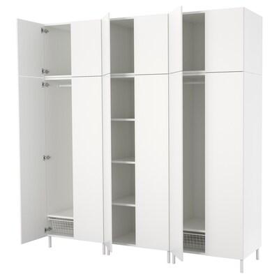 PLATSA Garderob, vit/Fonnes vit, 240x57x251 cm