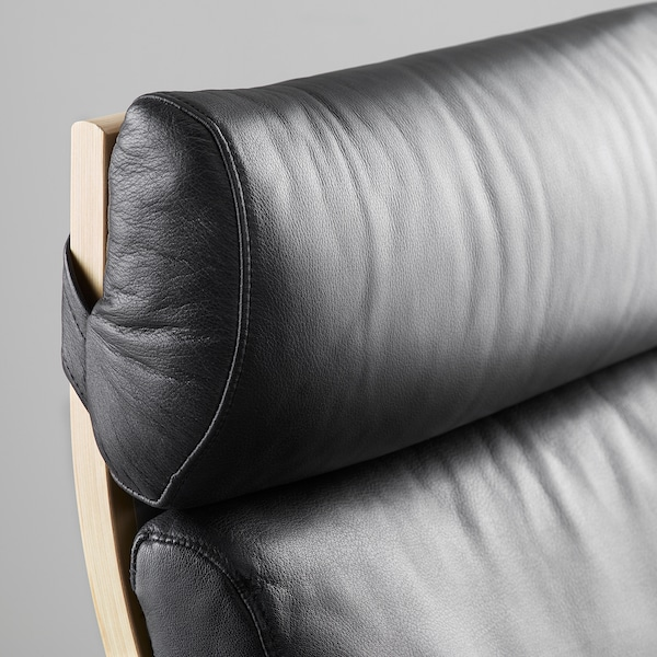 POÄNG Fåtölj, Smidig svart, Bredd: 68 cm IKEA