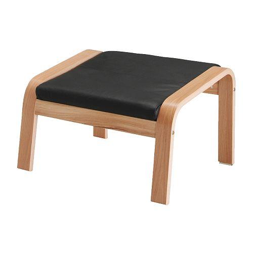 POäNG Fotpall Smidig svart IKEA
