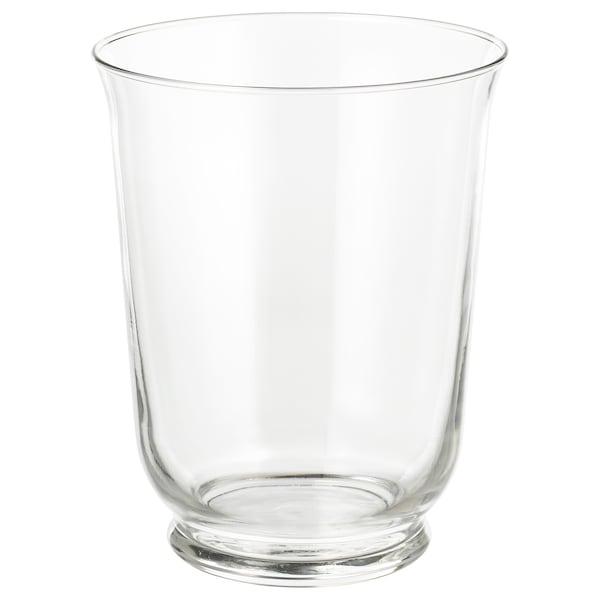 POMP Vas/lykta, klarglas, 18 cm