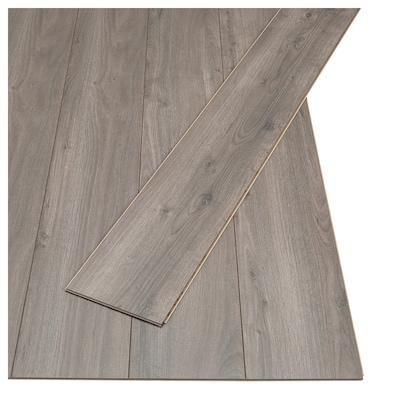 PRÄRIE Laminatgolv, ekmönstrad grå/brun, 2.25 m²