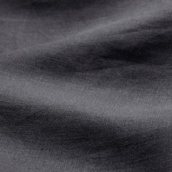 PUDERVIVA Påslakan 1 örngott, mörkgrå, 150x200/50x60 cm