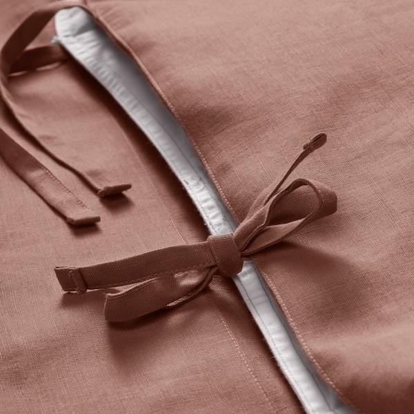 PUDERVIVA Påslakan 1 örngott, mörkrosa, 150x200/50x60 cm