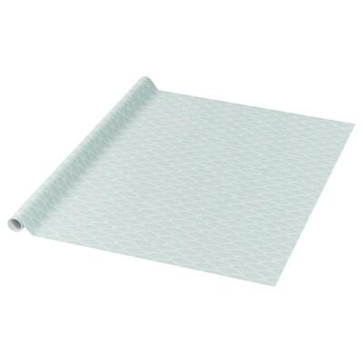 PURKEN Presentpappersrulle, ljusgrön/vit, 3.0x0.7 m