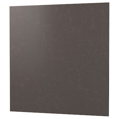RÅHULT Måttbeställd väggplatta, matt mörkgrå/marmormönstrad kompositsten, 1 m²x1.2 cm