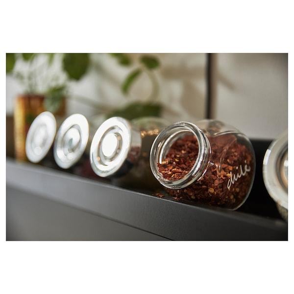 RAJTAN Kryddburk, glas/aluminiumfärg, 15 cl