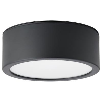 RAKSTA LED plafond, svart, 28 cm