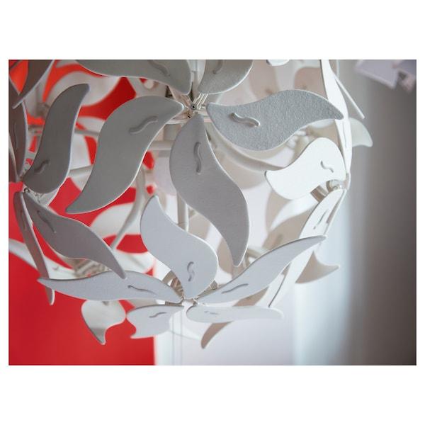 RAMSELE Taklampa, blomma/vit, 43 cm