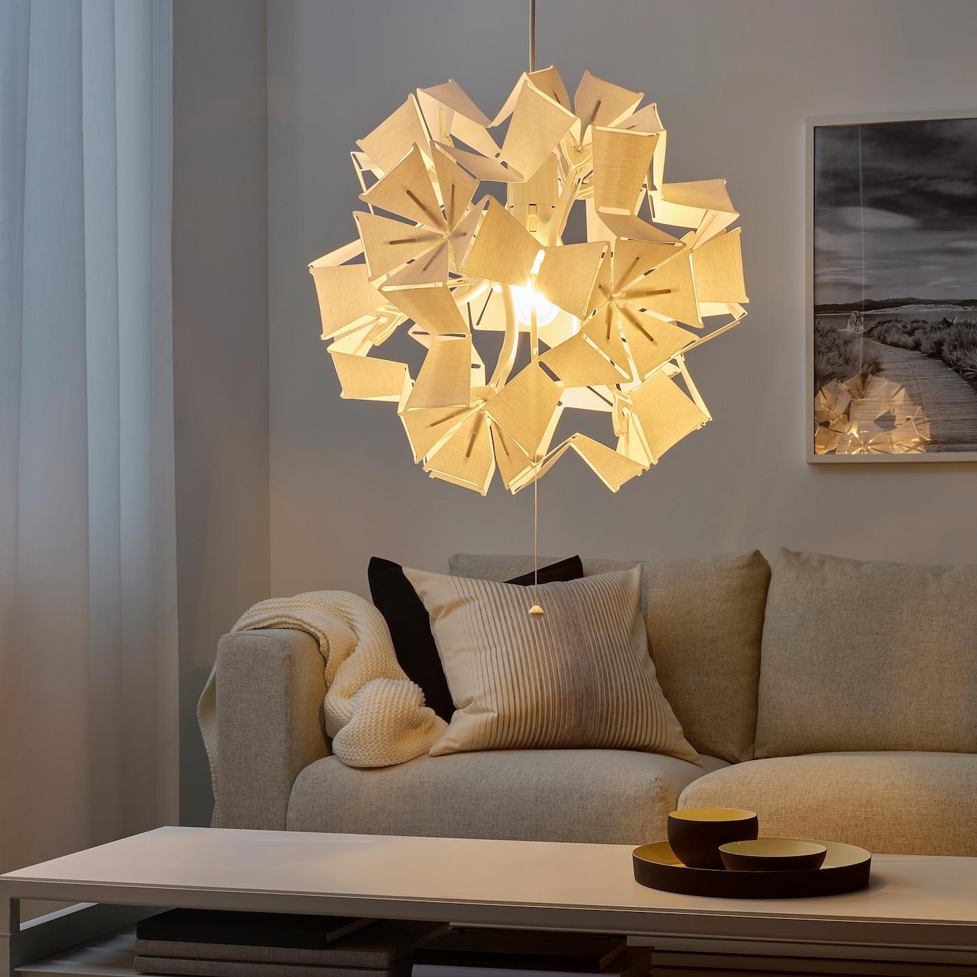 RAMSELE Taklampa geometriskvit 43 cm
